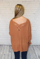 LACE UP BACK DETAIL SWEATER