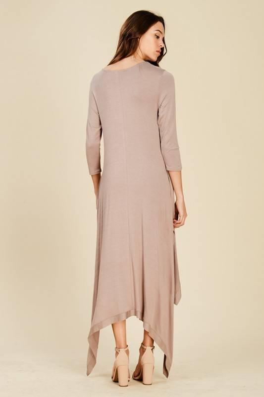 HIGH-LOW SIDES MAXI DRESS