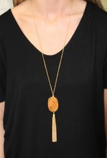 Druzy Tassle Chain Necklace