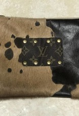 Cowhide Acid Wash Makeup Bag