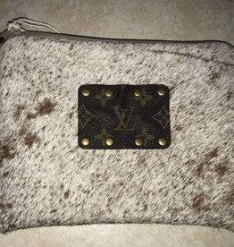 Cowhide Makeup Bag