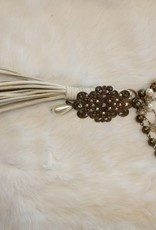 BEADED TASSLE AND PENDANT NECKLACE