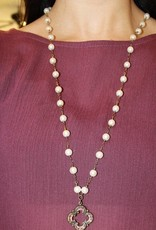 PEARL DROP-STONE NECKLACE