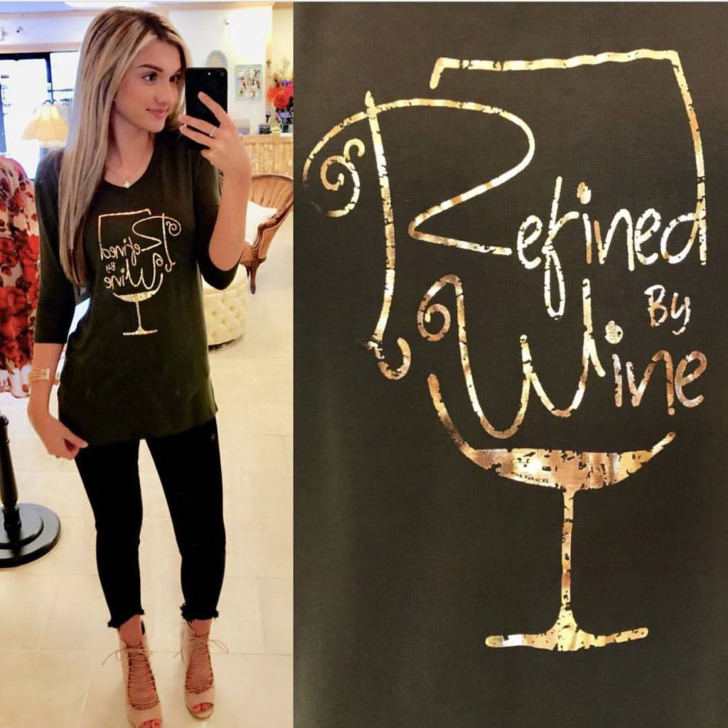 REFINED BY WINE TEE