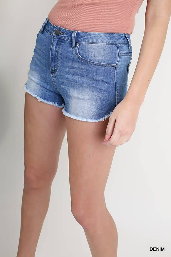 DENIM STRETCH CUT OFFS