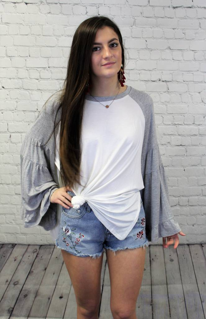 OVERSIZE BUBBLE SLEEVE TEE