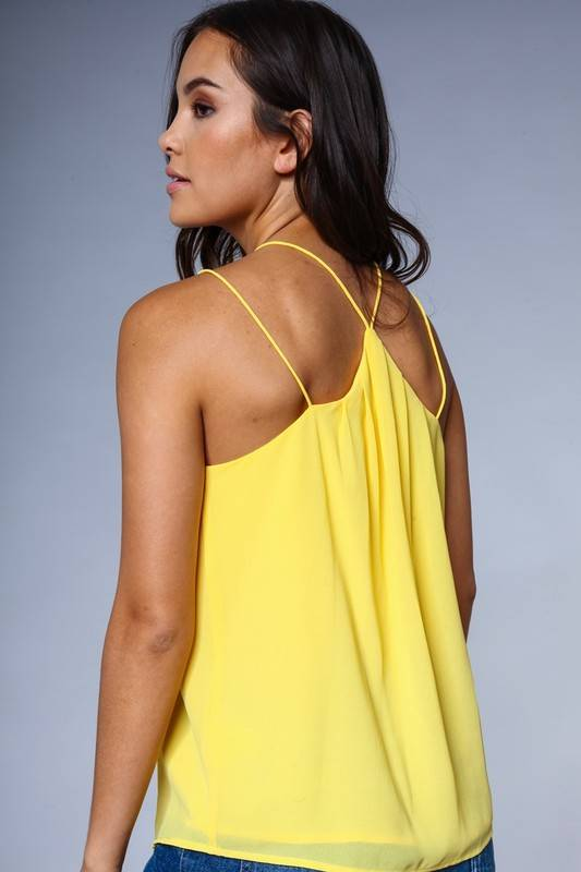 CROSS FRONT STRAPPY TOP