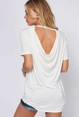 SHORT SLEEVE LOW BACK TEE