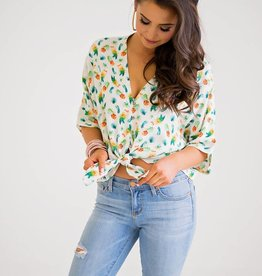 MULTI PINEAPPLE KNOT TIE TOP