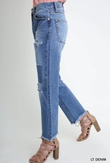 RELAXED CUTOUT JEANS