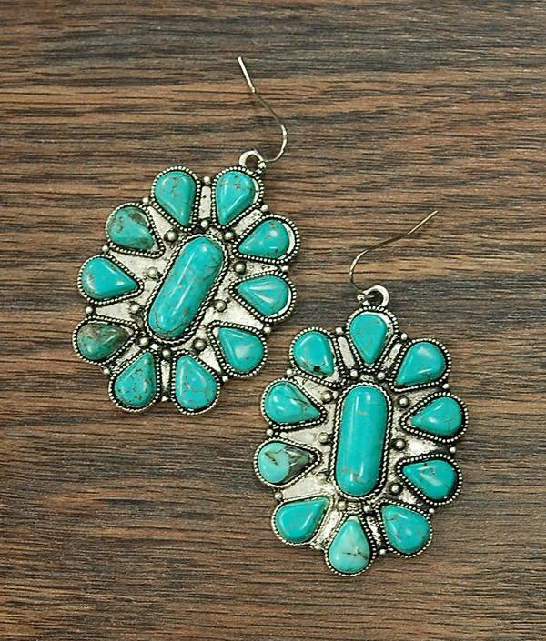 NATURAL TURQUOISE EARRINGS