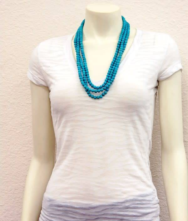 TURQUOISE 3STRAND NECKLACE