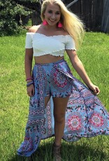 HIGH LOW SHORTS W/ SKIRT
