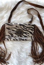 KEEP IT GYPSY SILVER & ZEBRA PRINT KATIE