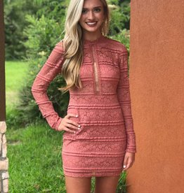 LONG SLEEVE LACE DRESS