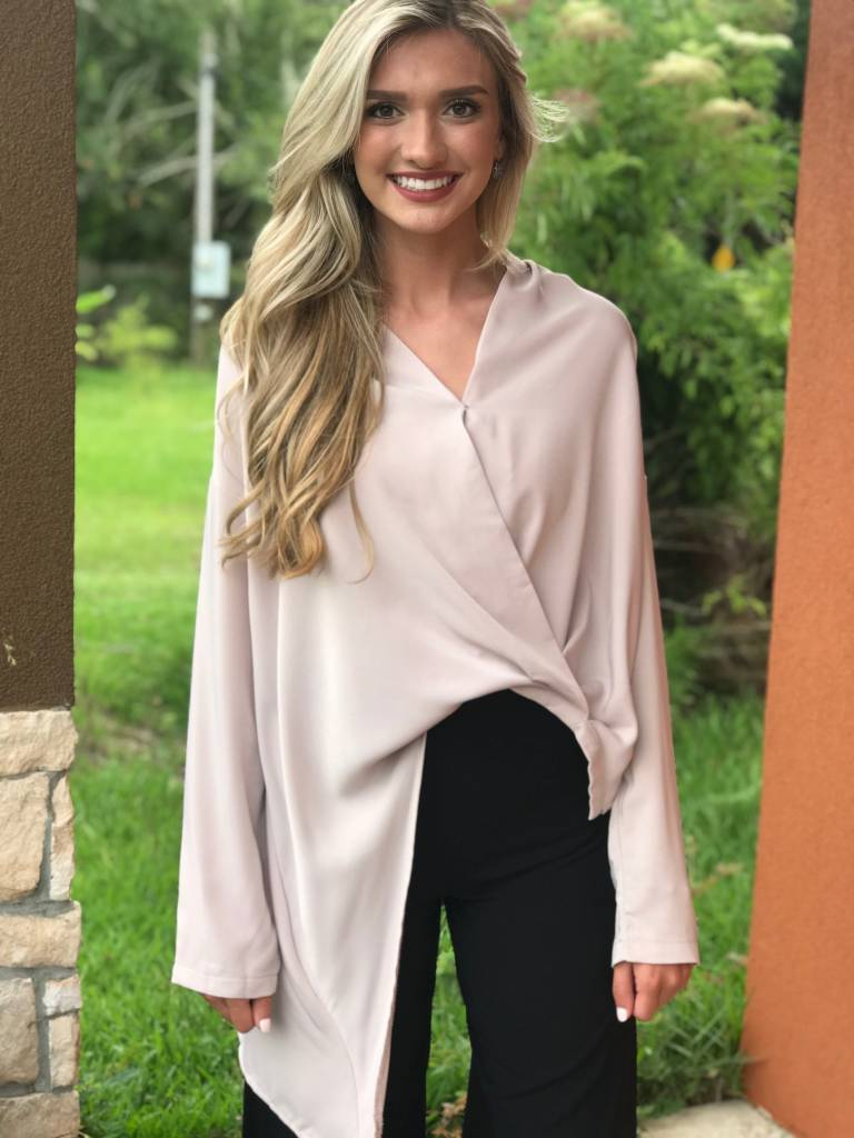ASYMMETRICAL WRAP TOP