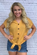 RIBBED FRONT TIE TOP