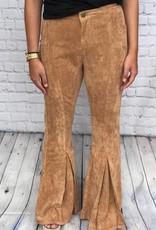 CAMEL VELVET PANTS