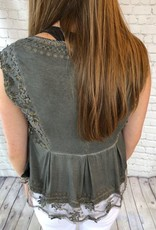FLORAL EMBROIDERED LACE TANK