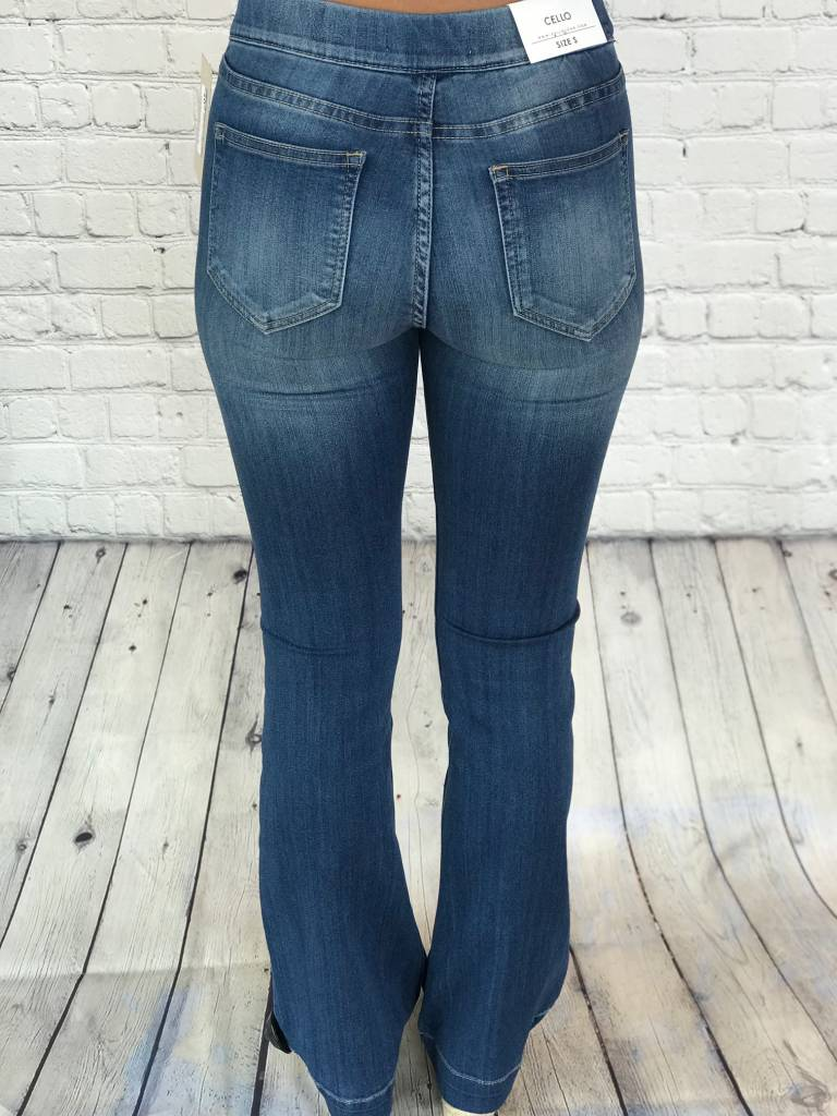 MID RISE FLARE JEGGING CELLO