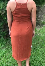 RUST TIE DRESS