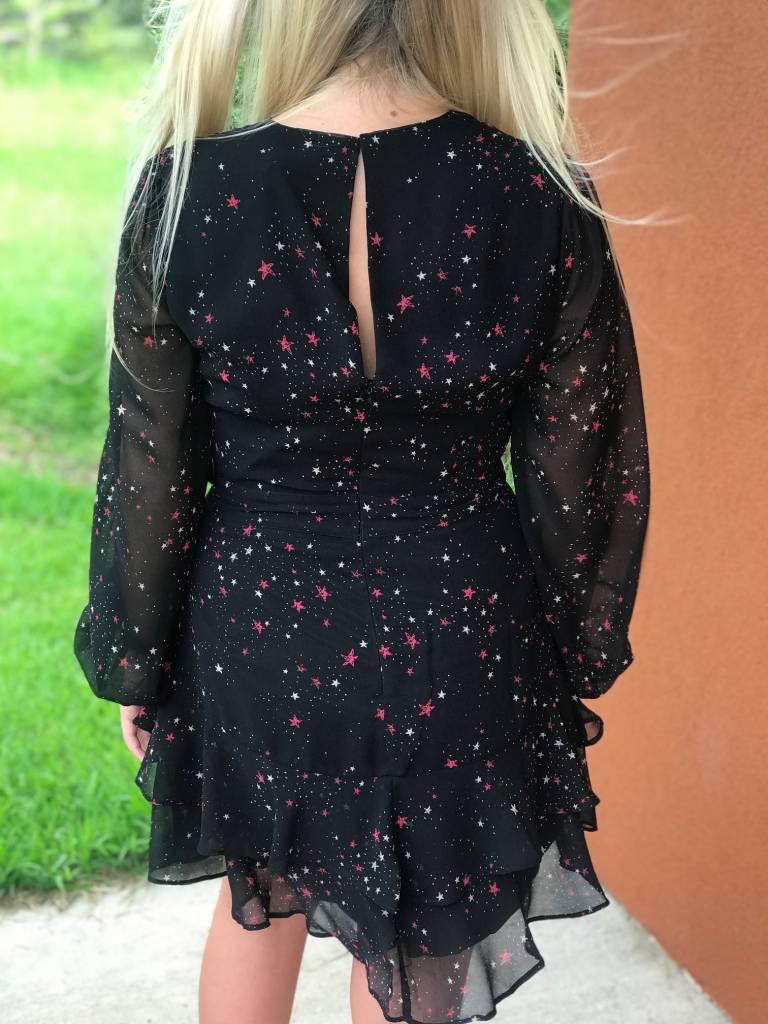 CHIFFON STAR PRINT DRESS