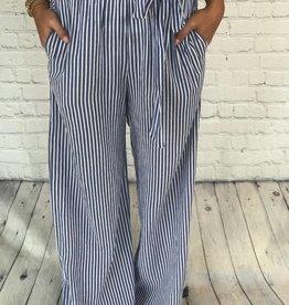 STRIPED PANTS W/ TIE FRONT