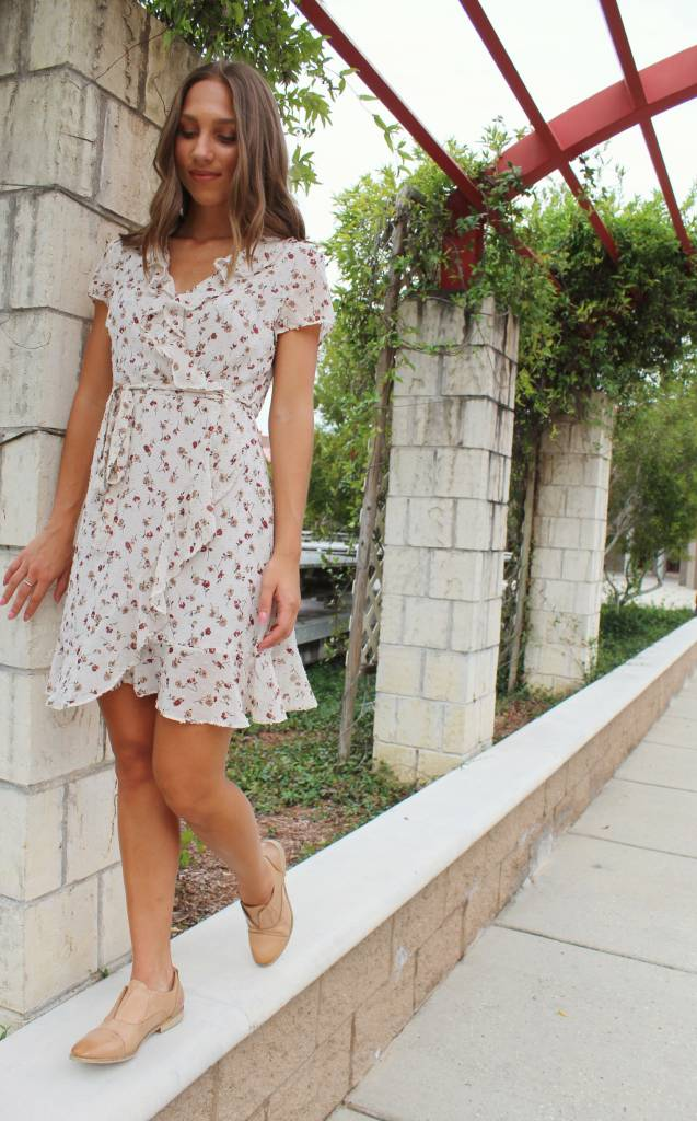 FLORAL CLIP DOT DRESS