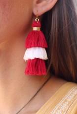 Game Day Tassel Earrings