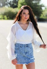 DISTRESSED PEARL SKIRT