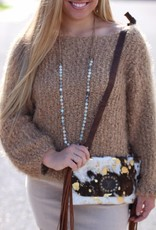 ALPACA SWEATER WITH DOLMAN STYLE SLEEVES