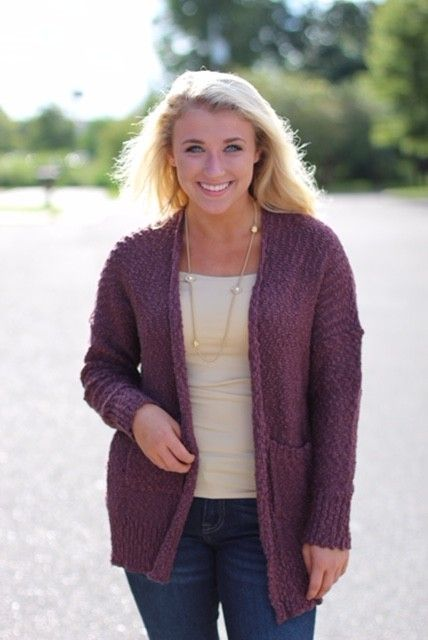 KNITTED, DRAPPED CARDIGAN