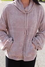 CHENILE TURTLE NECK SWEATER