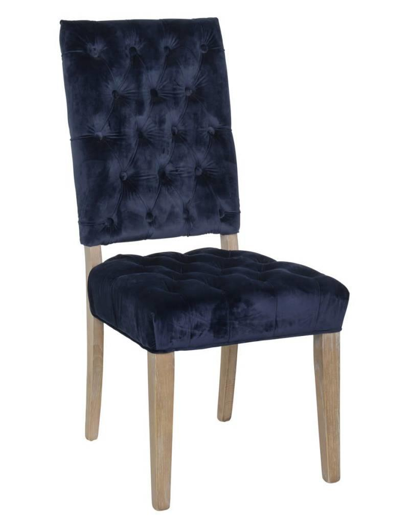classic home rosalind side chair navy miller and company design