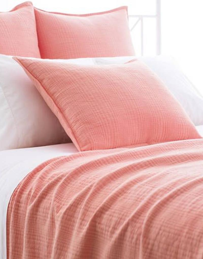Pine Cone Hill Kelly Coral Matelase Coverlet Twin ...
