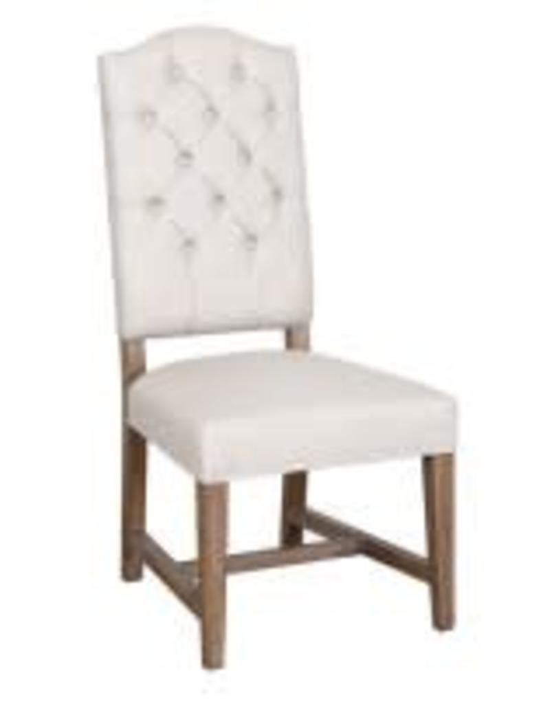 classic home ava side chair beige camel miller and company design