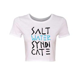Saltwater Syndicate Saltwater Syndicate Stacked Crop Top