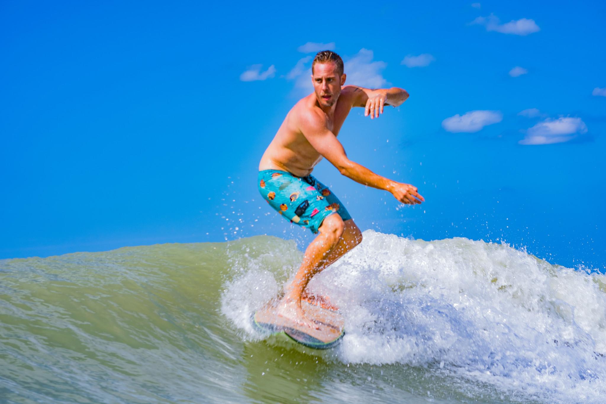 Jacob does a surfer boy
