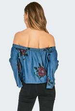 Amuse Society Amuse Feelin Rosy Woven Shirt