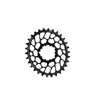 Absolute Black Absolute Black Spiderless BB30 DM Oval Chainring
