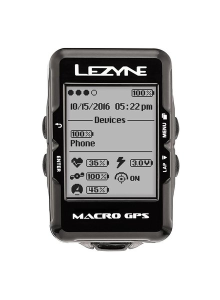 Lezyne Lezyne Macro GPS HR Speed Loaded Blk
