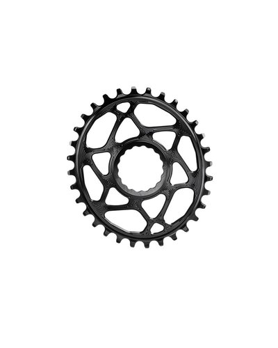 Absolute Black Absolute Black Oval DM Hollowgram Chainring Race-Face Cinch