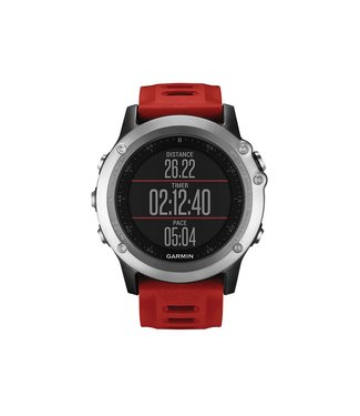 Garmin Garmin Fenix 3 GPS Multisport Training Watch Bundle w/HRM Sil/Red