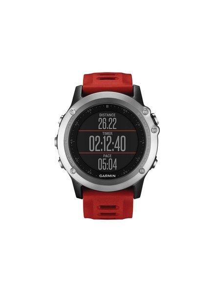 Garmin Garmin Fenix 3 GPS Multisport Training Watch Bundle w/HRM Sil/Red