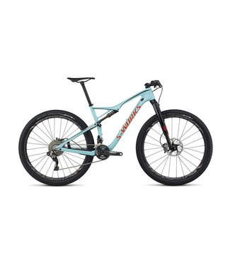 Specialized 2017 Specialized S-Works Epic FSR Di2 Teal/Rkt Red/Blk MD