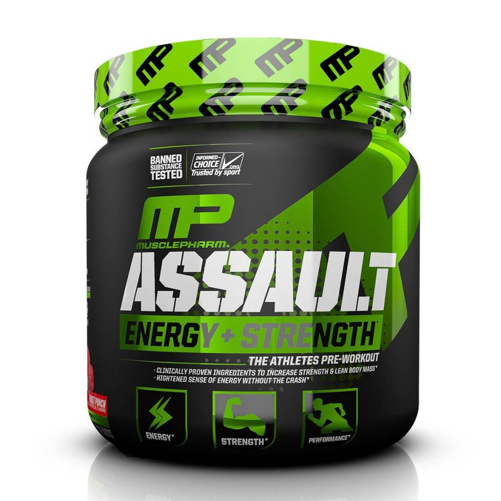 MusclePharm MP: Assault Blue Raz 30s