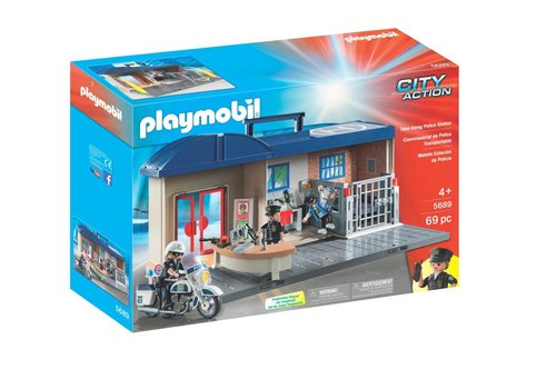 Playmobil Commissariat de police transportable