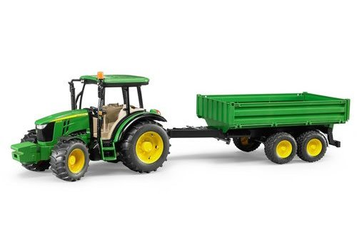 Bruder John Deere 5115M with trailer