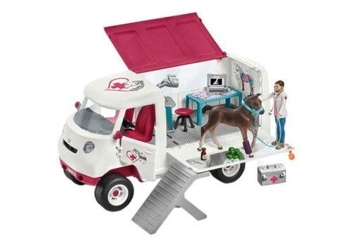 Schleich Veterinaire mobile avec poulain hanovrien