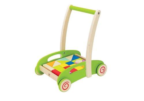 Hape Chariot avec cubes